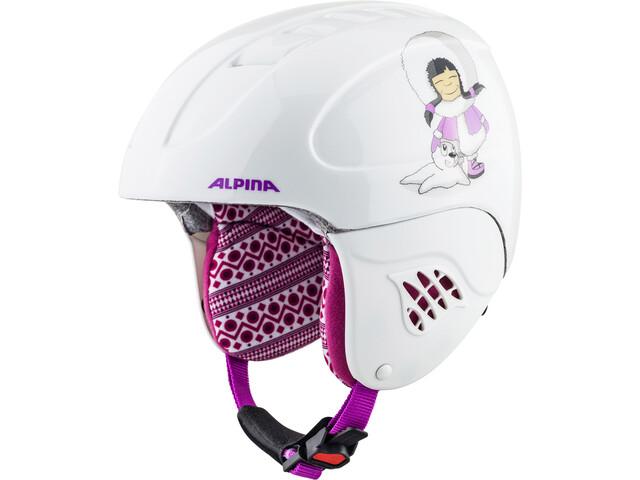 Alpina Carat Casco de esquí Niños, eskimo-girl